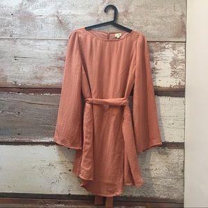 Uniqlo // peachy pink dress